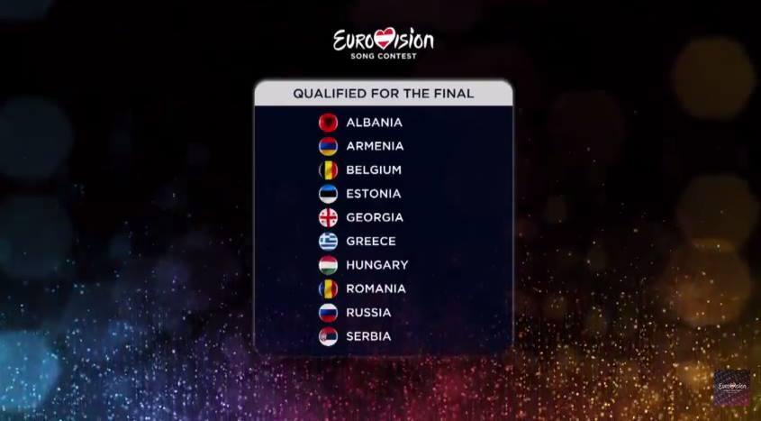 finalisti eurovision